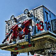 Fireman - The Fireman's Ladder Art Print
