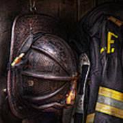 Fireman - Worn And Used Art Print
