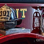 Firemen - Fire Helmet Lieutenant Art Print