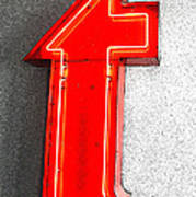 Firestone Building Red Neon T Art Print