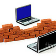 Firewall Protection For Laptops Art Print