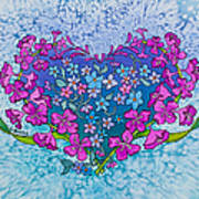 Fireweed Heart Art Print