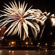 Firework Explosions Art Print