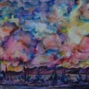 Firework Of Chinook Art Print
