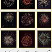 Fireworks - White Background Art Print