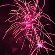 Rockets Red Glare Fireworks Art Print by Howard Tenke
