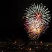 Fireworks Albenga 2013 3808 - Ph Enrico Pelos Art Print