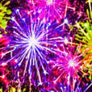 Fireworks At Night 7 Art Print