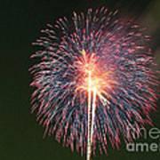 Fireworks At Night 9 Art Print