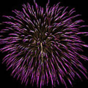 Fireworks Bursts Colors And Shapes 5 Art Print
