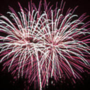 Fireworks Bursts Colors And Shapes 7 Art Print