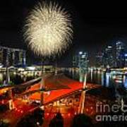 Fireworks By The Bay Art Print