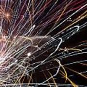 Fireworks Cropped Art Print