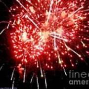 Fireworks Display At Niagara Falls Art Print