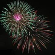 Fireworks Exploding Art Print