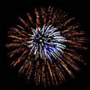 Fireworks Exposion Art Print by Gene Walls