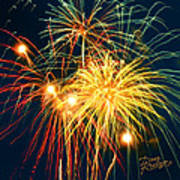 Fireworks Finale Art Print by Doug Kreuger