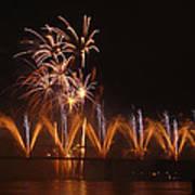 Fireworks Fountain Art Print