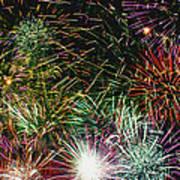 Fireworks Art Print by Lester Phipps