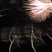 Fireworks Light Trails 11 Art Print