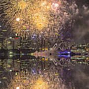 Fireworks Over Sydney Opera House Art Print