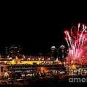 Fireworks Over The Kansas City Plaza Lights Art Print