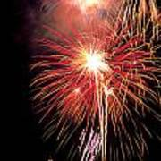 Fireworks Over Washington Dc Art Print