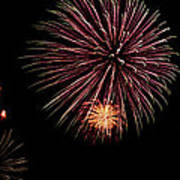 Fireworks Panorama Art Print by Bill Cannon