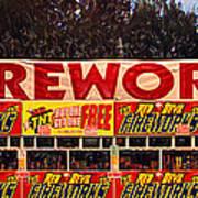 Fireworks Art Print by Ron Regalado