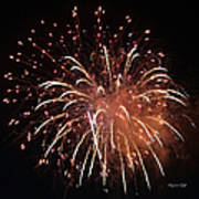 Fireworks Series Xv Art Print by Suzanne Gaff