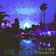 Fireworks Venice California Art Print by Jerome Stumphauzer