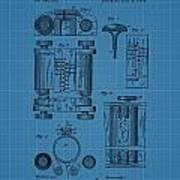 First Computer Blueprint Patent Art Print