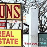 First Guns Then Land Art Print