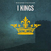 First Kings Books Of The Bible Series Old Testament Minimal Poster Art Number 11 Print by Design Turnpike