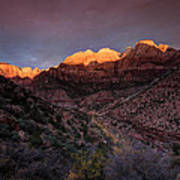 First Light 2 Zion National Park Art Print
