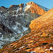 First Light At Longs Peak Art Print by Eric Glaser