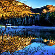 First Light At Pinnacle Lake Art Print