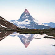First Light On The Summit Of Matterhorn Art Print