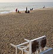 First On The Beach At Bethany Beach In Delaware Art Print