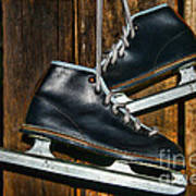 First Pair Of Ice Skates Art Print