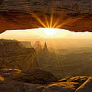 First Rays at Mesa Arch Art Print