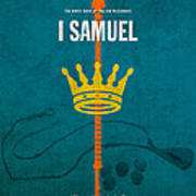 First Samuel Books Of The Bible Series Old Testament Minimal Poster Art Number 9 Art Print by Design Turnpike