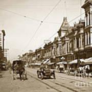 First Street Downtown San Jose California Circa 1905 Art Print