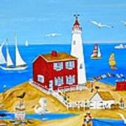 Fisgard Lighthouse Art Print