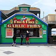 Fish And Fries At The Santa Cruz Beach Boardwalk California 5d23687 Art Print by Wingsdomain Art and Photography