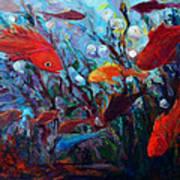 Fish Chatter Art Print