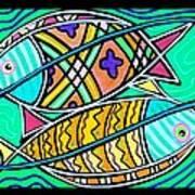 Fish Cousins Art Print
