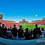 Fish-eye View Of The Jones Stadium Art Print