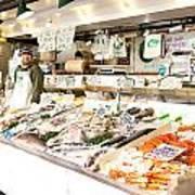 Fish Market Art Print