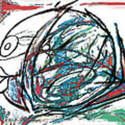 Fish Morden Art Drawing Painting Art Print